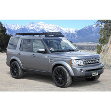 Land Rover LANDROVER LR4 baja off road offroad roof rack gobiracks gobirack gobi stealth ranger light bar multi light setup wind deflector