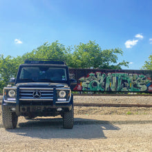 mercedes benz g wagon gobi roof rack with ladder and wind deflector no light bar by graffiti