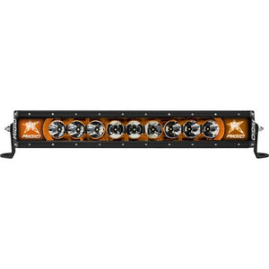 rigid industries radiance+ series orange back lit 20 inch light bar