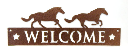 Welcome Sign - Horses