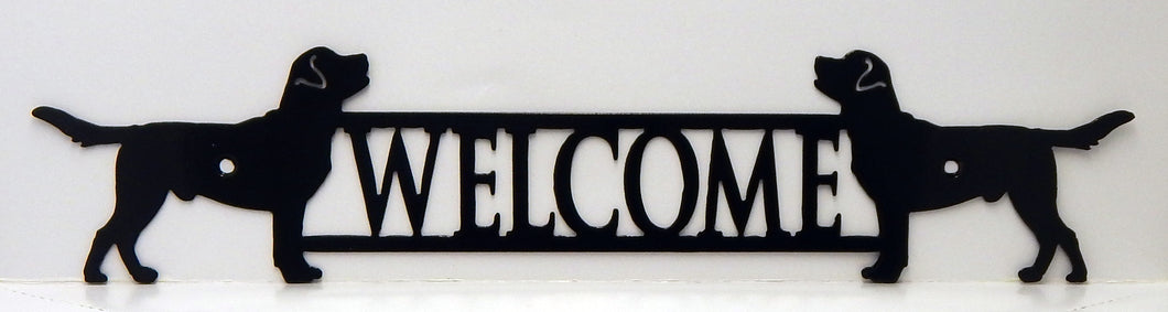 Welcome Sign - Labrador Retrievers