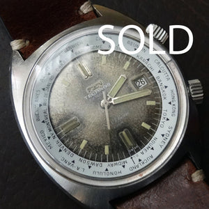 Late 60's Technos Skydiver super compressor with tropical dial.