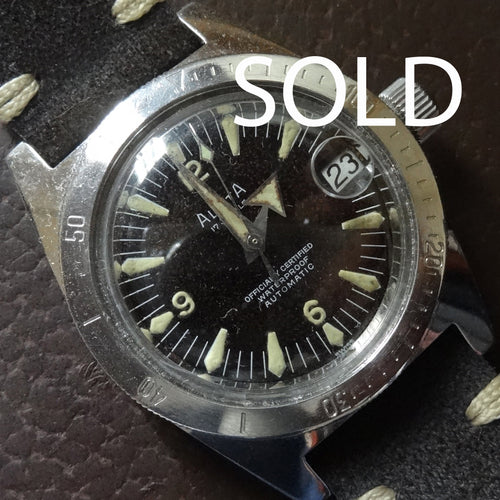 1960'S Alsta diving watch in great condition, tritium markers.