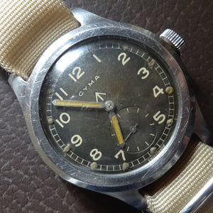 Rare Cyma military watch, 1940's . WWW case back. Dirty dozen. Stunning!