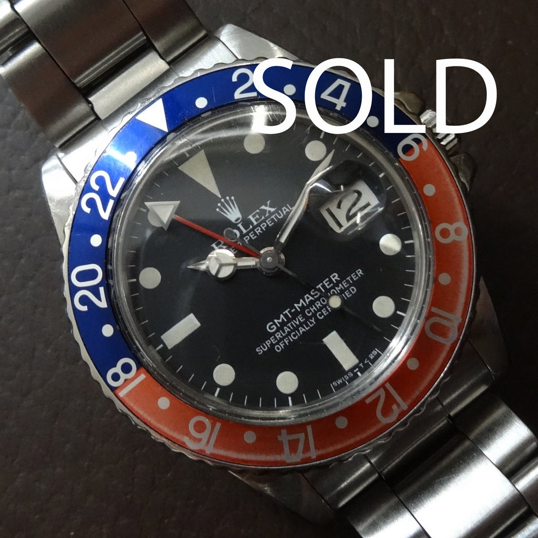 Rolex 16750 Pepsi, 1980 with faded bezel