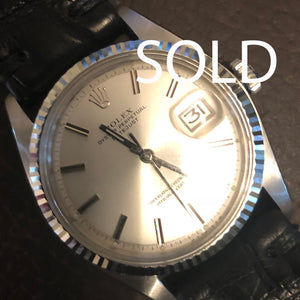 Rolex 1601 Datejust in steel with silver sigma dial 1975