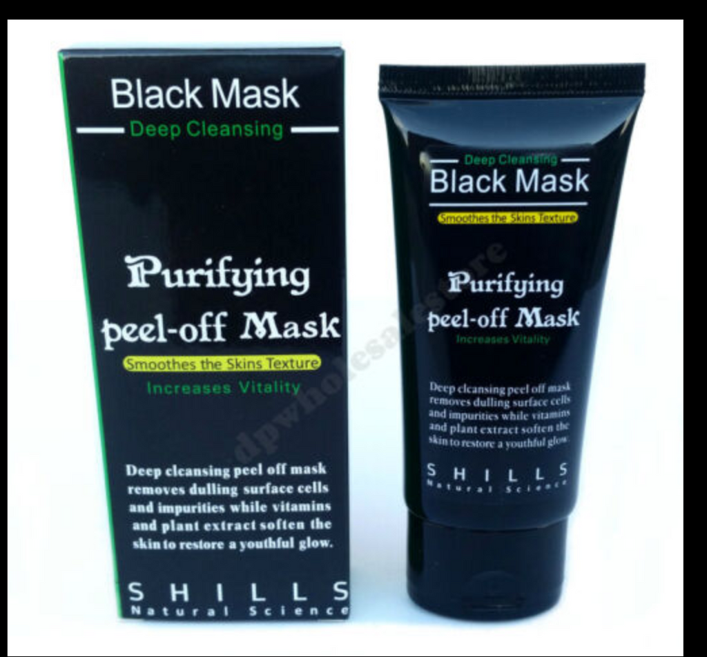 Purifying Black Charcoal Peel-off Mask For Facial Skin Cleansing
