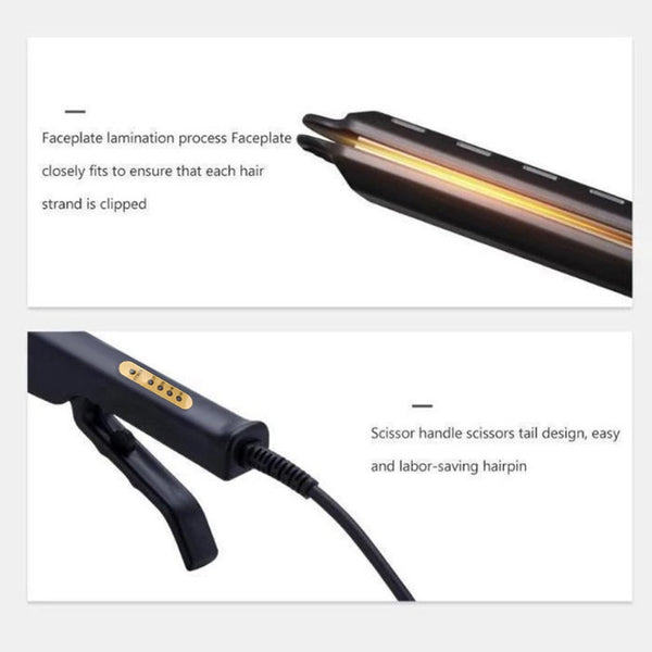 Ceramic Tourmaline Hair Straightener With 4-Gear Temperature Control