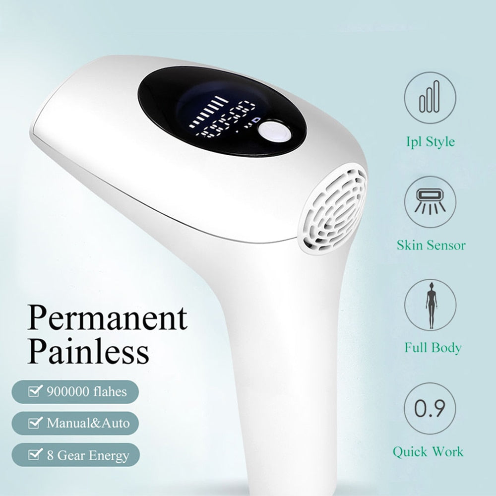 IPL Laser Hair Removal Epilator Painless Permanent With 900000 Flashes