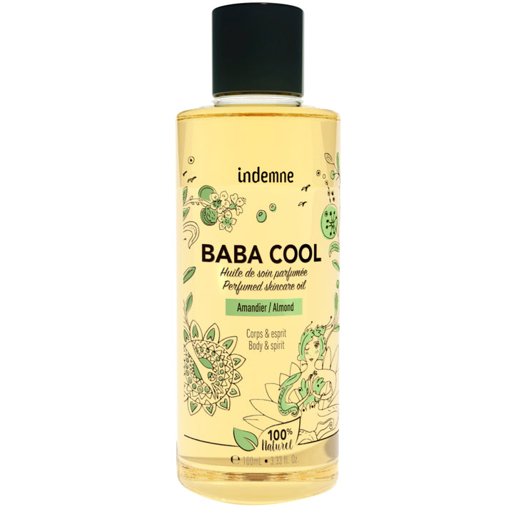 indemne huile de soin baba cool amandier 100 ml 100% naturelle