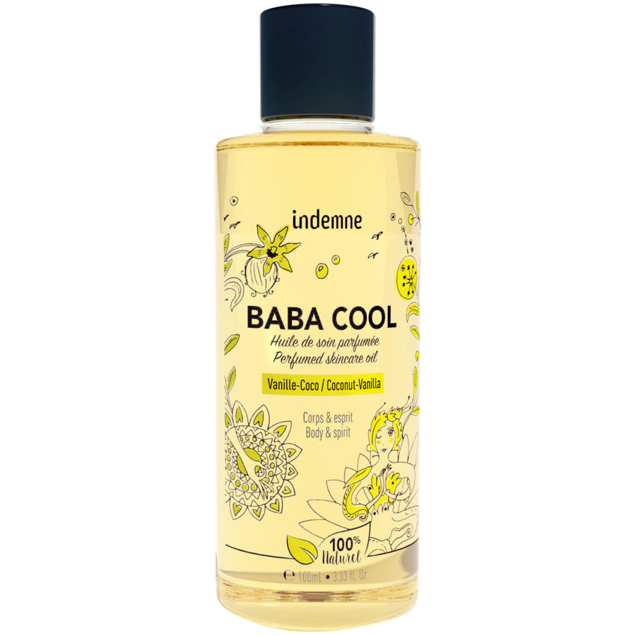 indemne huile de soin baba cool 100 ml vanille coco 100% naturelle