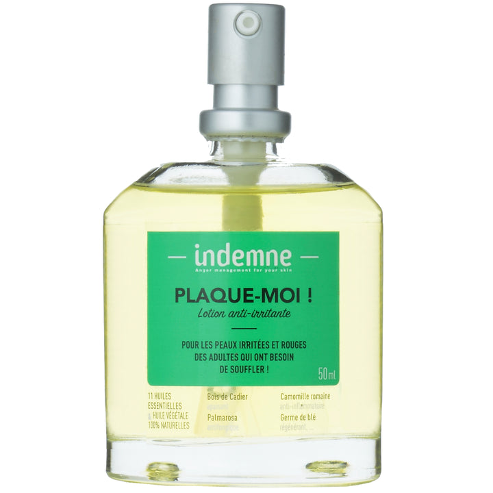 indemne lotion anti irritante plaque moi 50 ml 100% naturelle