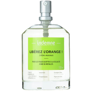 "indemne lotion minceur ""libérez l'orange"" 100% naturelle"
