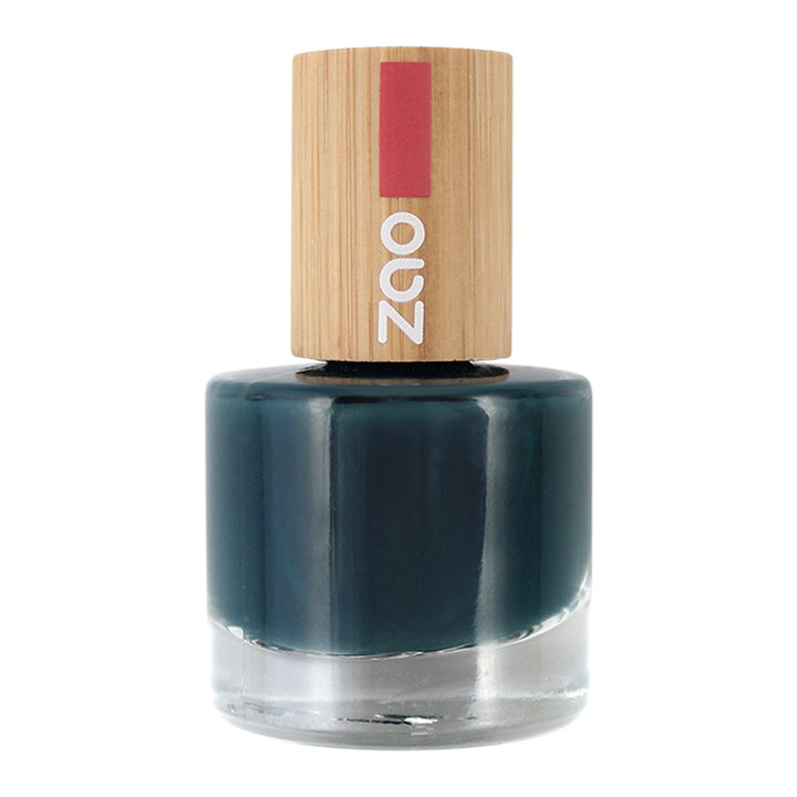 zao make-up vernis à ongles 666 bleu canard