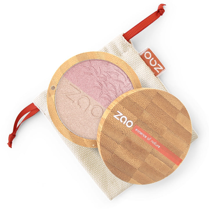zao shine-up powder duo 311 rose et or