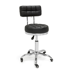 Ultra-Durable Round Swivel Stool with Backrest
