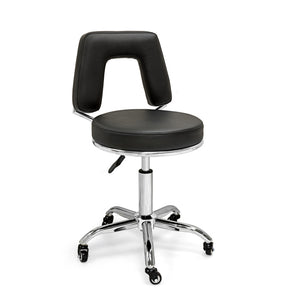 Ultra-Durable Pneumatic Swivel Stool with Squared Backrest
