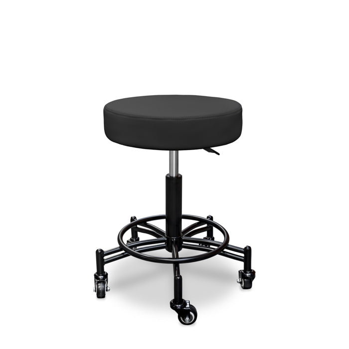 "Ultra-Durable Pneumatic Swivel Stool with 2"" Rolling Casters"