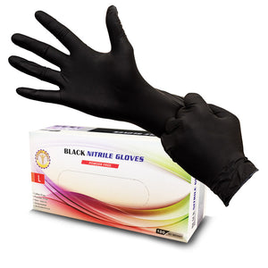 CPNP01 Black nitrile disposable gloves 6 mil — theneedleparlor.com