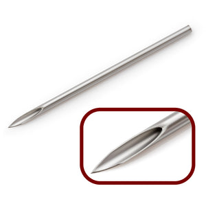 Stainless Steel Straight Piercing Needles - 2""