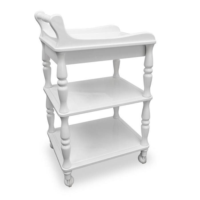 Classic Utility Cart with Push Handle and Drawer