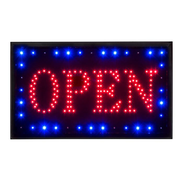LED Open Sign with Revolving Border