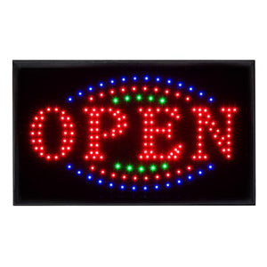 U-39A2 LED open sign with flashing border