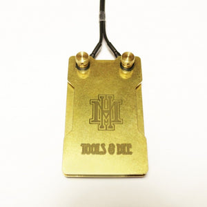HM 2-Plate Brass Small Foot Switch