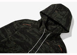 'FUXK ORANGE' Black Camouflage Hooded