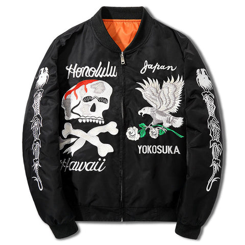 YOKOSUKU EMBROIDERED BOMBER JACKET