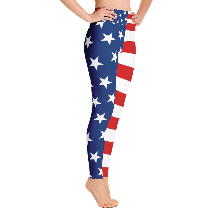 US Flag Yoga Leggings