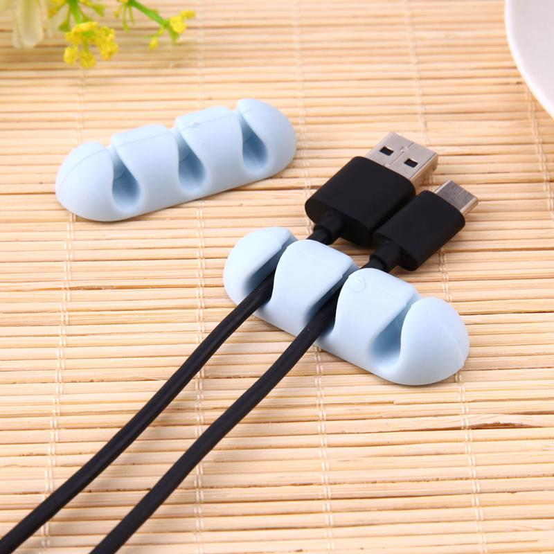 Cable Management Clips Adhesive Silicone for Desk