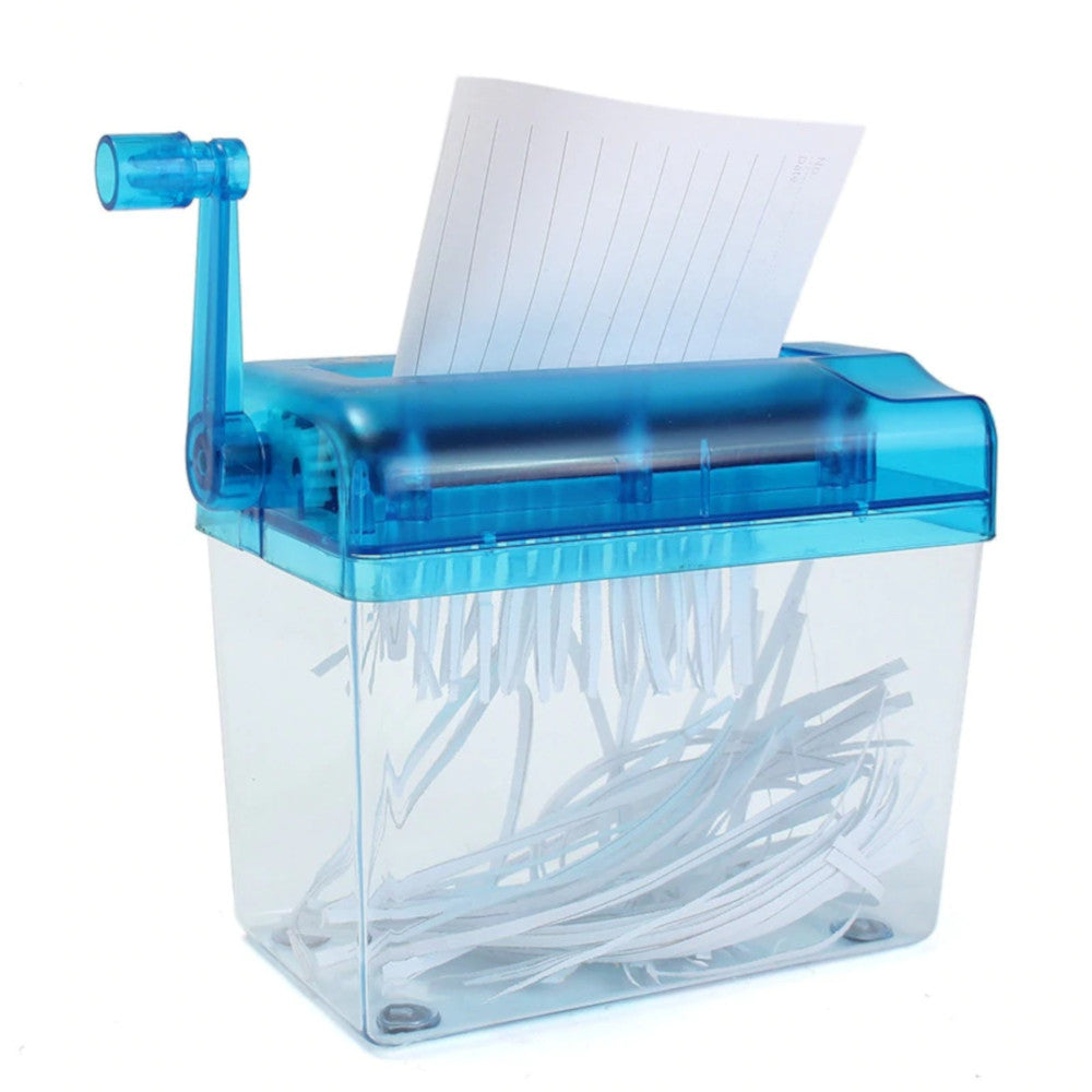 Portable Manual Paper Shredder-Alex and Forbes