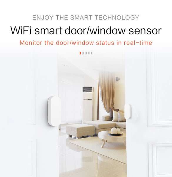 Smart WiFi Door Window Sensor Home Alarm Compatible With Alexa Google Home Tuya APP