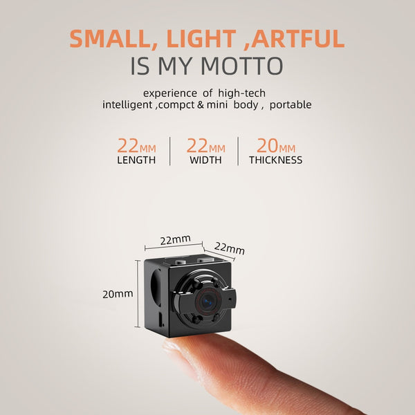 Mini Video Camera w/ Night Vision Motion Detection