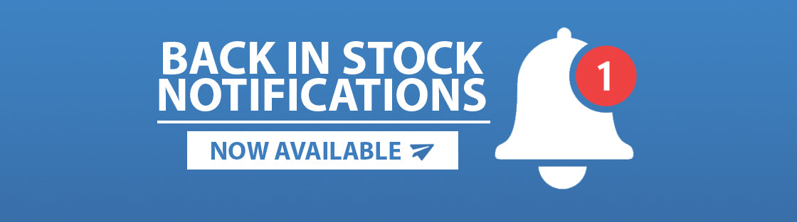 Back in Stock notification banners