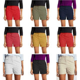 Ladies Pure Cotton Roll Up Chino Shorts - ex Store