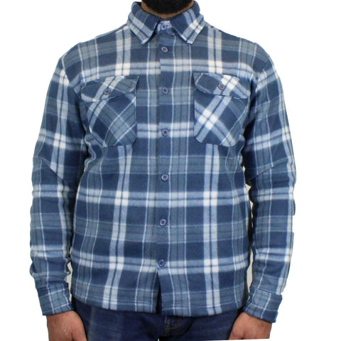 Mens Soft Fleece Check Work Shirt