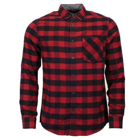 Mens Double Brushed Cotton Flannel Check Shirt