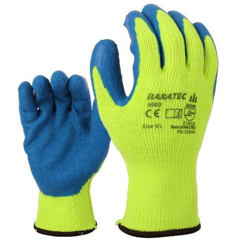 12 x Baratec Warm Workwear Protective Thermal Gripper Glove