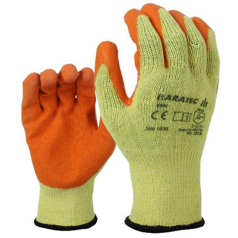 12 x Baratec Protective Latex Gripper Glove - Wet & Dry Conditions