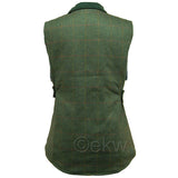 Game Ladies Derby Tweed Gilet Back