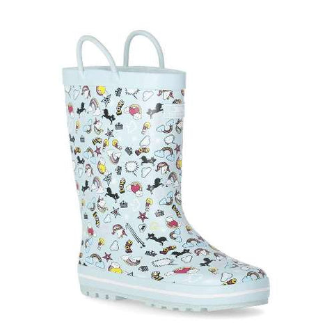 Trespass Starryton Kids Outdoor Waterproof Rubber Wellies