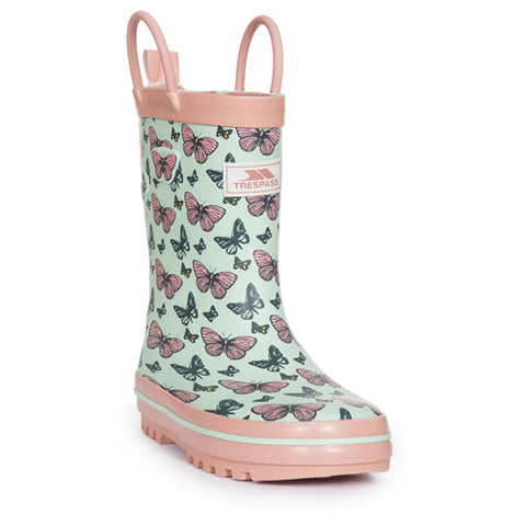 Trespass Girls 'Butterflie' Waterproof Wellingtons