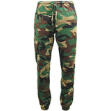 Game Mens Camouflage Joggers in Woodland