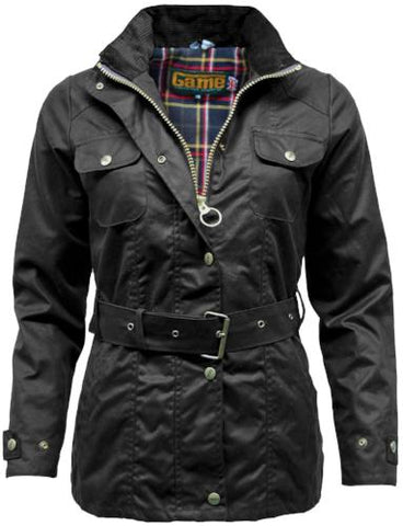 Ladies Game Blaze Belted Premium Wax Jacket