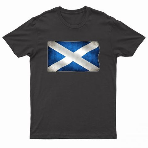 Adults Scotland Printed Scottish Flag T Shirt