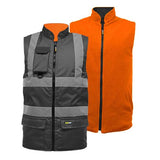 Hi Vis TwoTone Bodywarmer Black/Orange