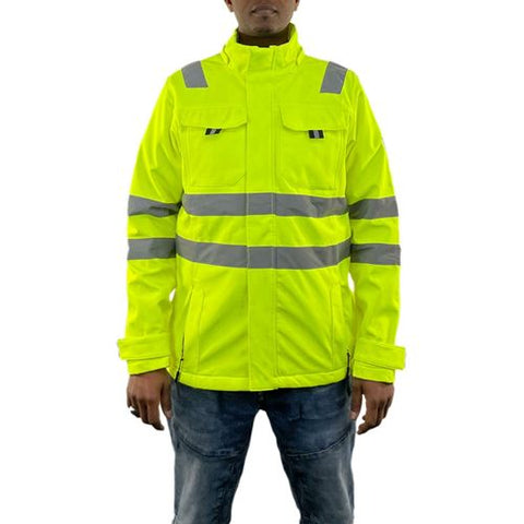 Mens Hi Vis Softshell Jacket - HV368