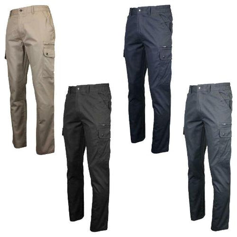 Mens Multi Pocket Active Cargo Trousers with Tool pocket